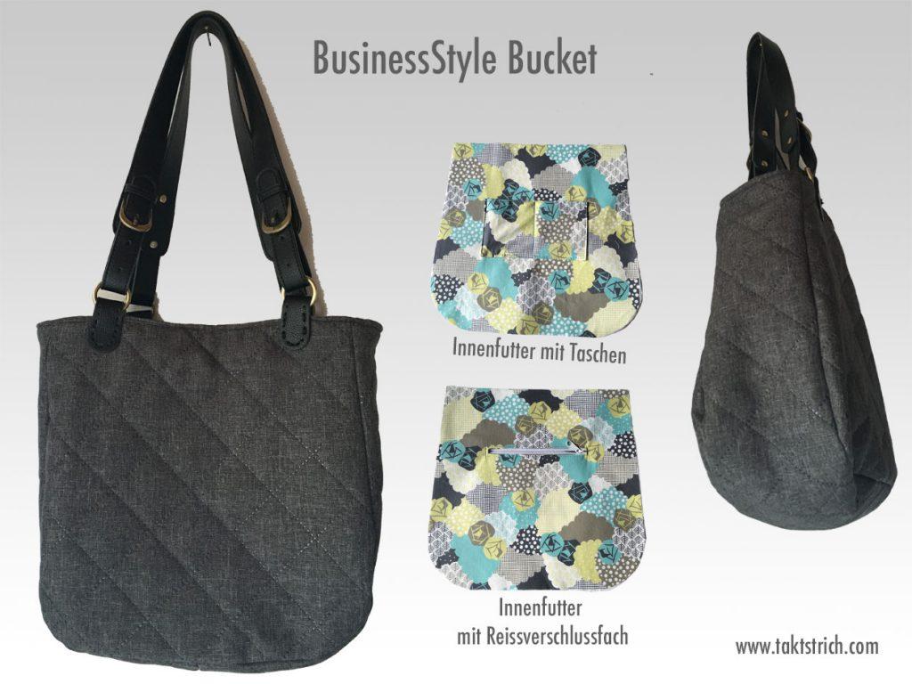Handtasche mit Innenfächern selbst genäht