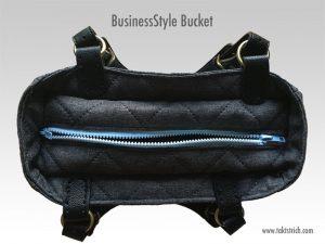 Handtasche mit tiefergelegtem Reissverschluss