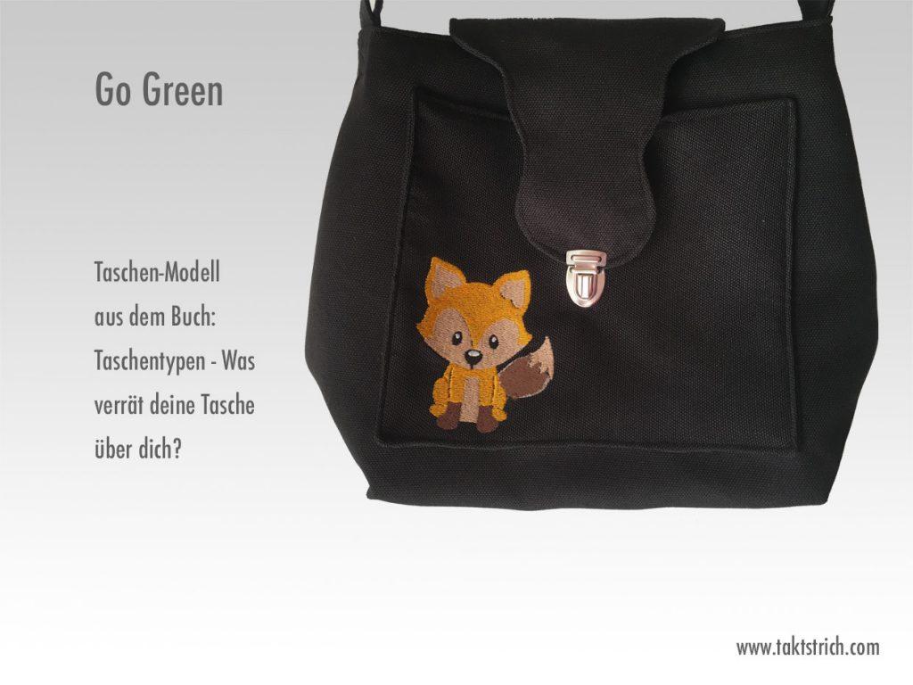 Go Green mit Fuchsstickerei