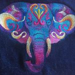 Elephant Stickmotiv