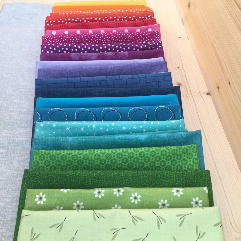 Farbauswahl für die Patchwork-Decke